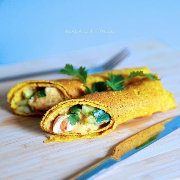 Тыквенные блинчики с куркумой. Фото Скриншот Instagram: lana_shi_recipes