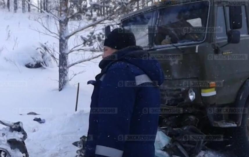 ДТП в Красноярском крае. Фото Скриншот видео www.5-tv.ru