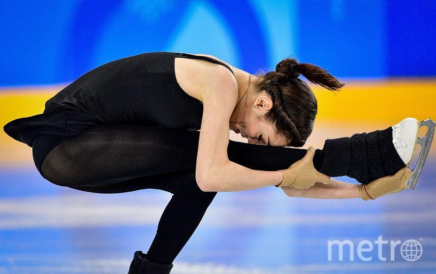 Евгения Медведева на тренировке. Фото AFP