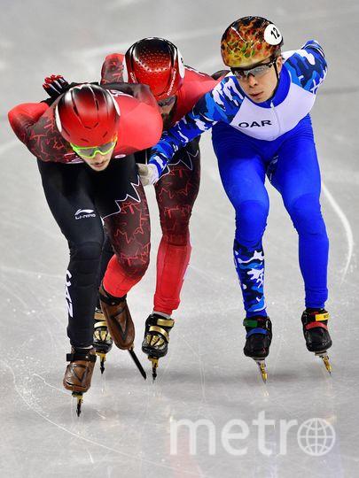 Семён Елистратов (в бело-синей форме) завоевал бронзу. Фото AFP