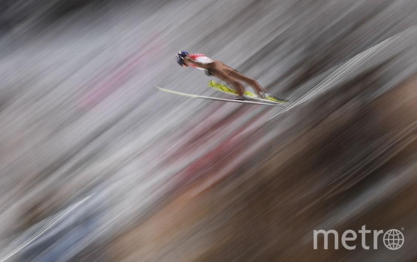 Соревнования летающих лыжников. Фото AFP