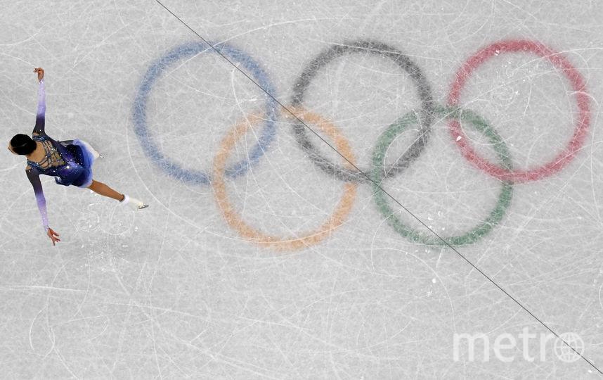 Евгений Медведева откатала короткую программу в командном турнире с мировым рекордом. Фото AFP