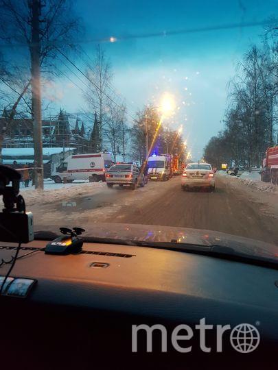 Пожар в Лахтинских банях. Фото vk.com