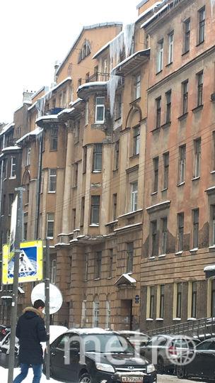 Сосульки в Петербурге. Кирилловская улица. Фото Ольга Михайлова