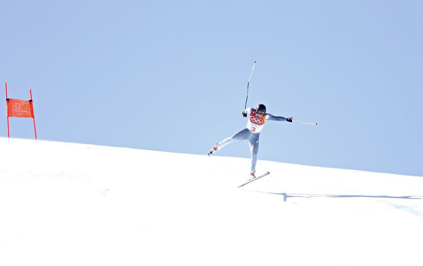 Павел Трихичев упал на трассе в олимпийском Пхенчхане. Фото Getty