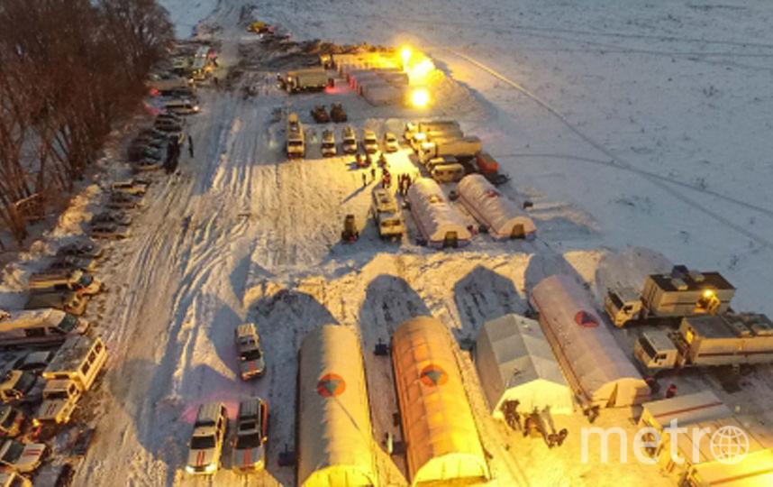 Спасательные работы на месте крушения Ан-148. Фото AFP