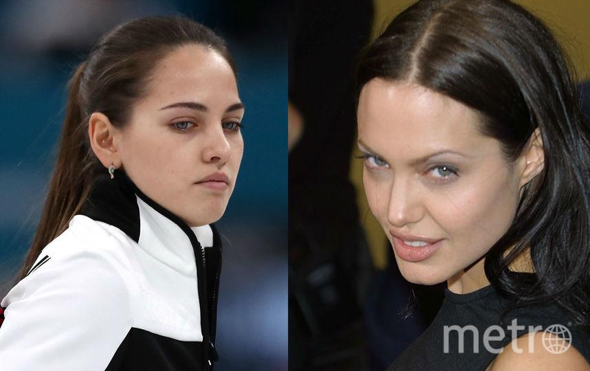 Анастасия Брызгалова и Анджелина Джоли в 25 лет. Фото Getty