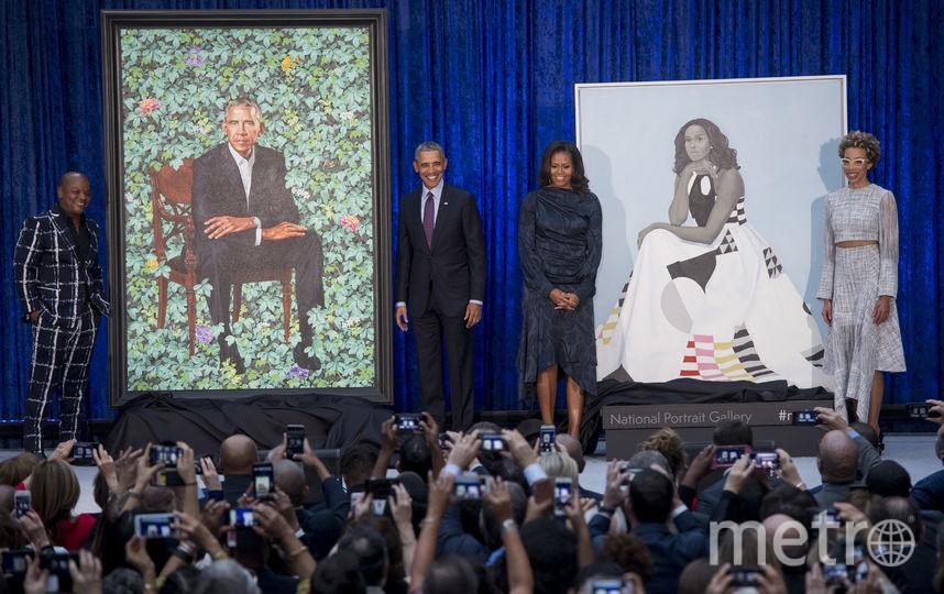 В Национальной портретной галерее США в Вашингтоне были представлены официальные портреты экс-президента страны Барака Обамы и его супруги Мишель. Фото AFP