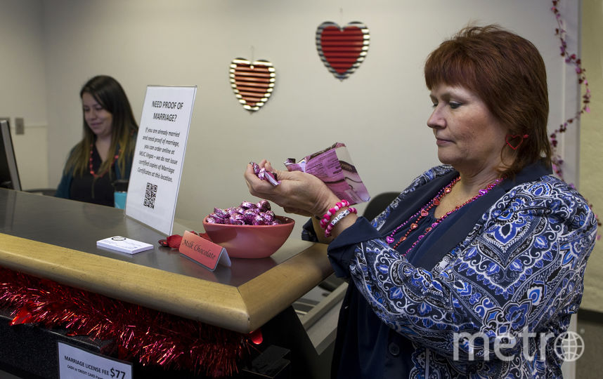 Временное бюро регистрации браков в аэропорту Лас-Вегаса. Фото AFP