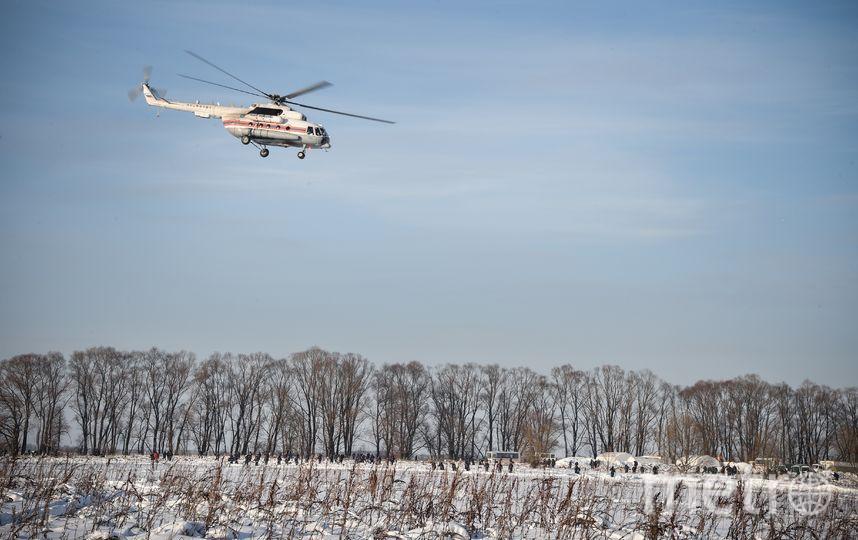 Работа спасателей на месте крушения Ан-148. Фото AFP