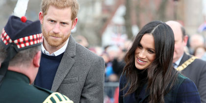 Визит принца Гарри и Меган Маркл в Шотландию взволновал поклонников. Фото Getty