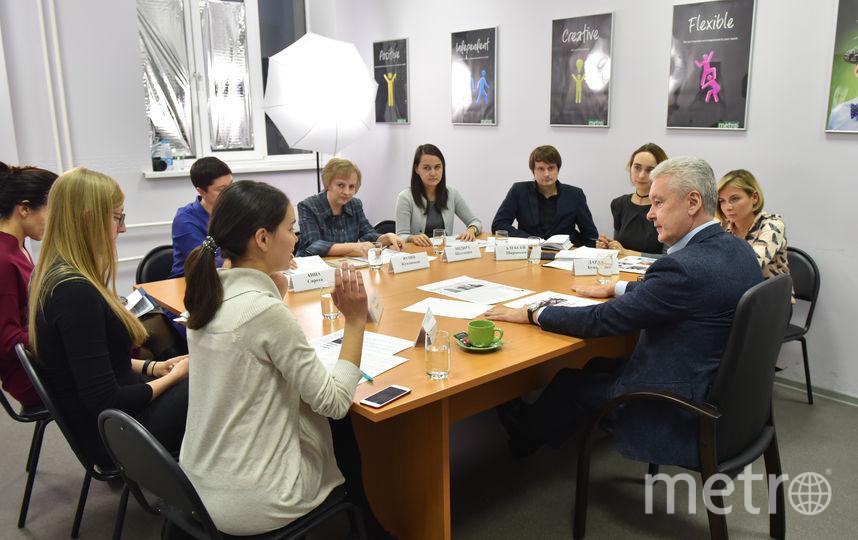 Мэр Москвы Сергей Собянин на один день стал главным редактором Metro. Фото Василий Кузьмичёнок