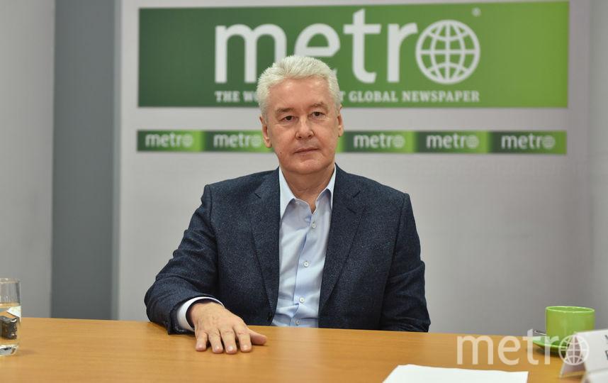 Сергей Собянин в редакции Metro-Москва. Фото Василий Кузьмичёнок