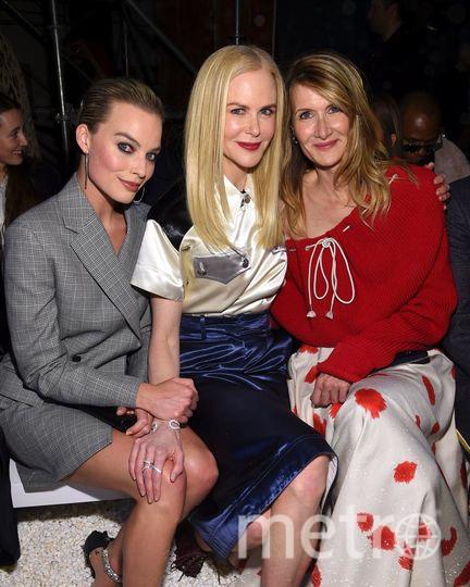 Звезды на показе Calvin Klein. Марго Робби, Николь Кидман, Лора Дерн. Фото Getty