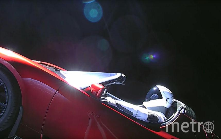 Tesla в космосе. Фото AFP
