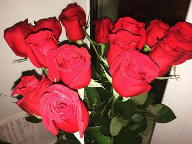 Букет ко Дню святого Валентина. Фото Instagram @oksanacholieva