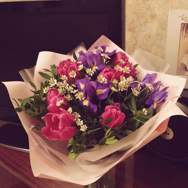 Букет ко Дню святого Валентина. Фото Instagram @_z_ekaterina