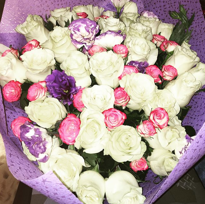 Букет ко Дню святого Валентина. Фото Instagram @olenka.by