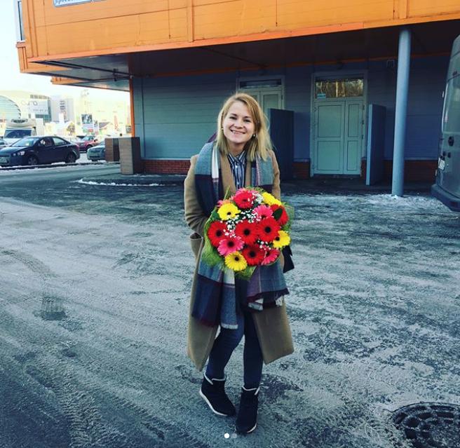 Букет ко Дню святого Валентина. Фото Instagram @sashachashkina