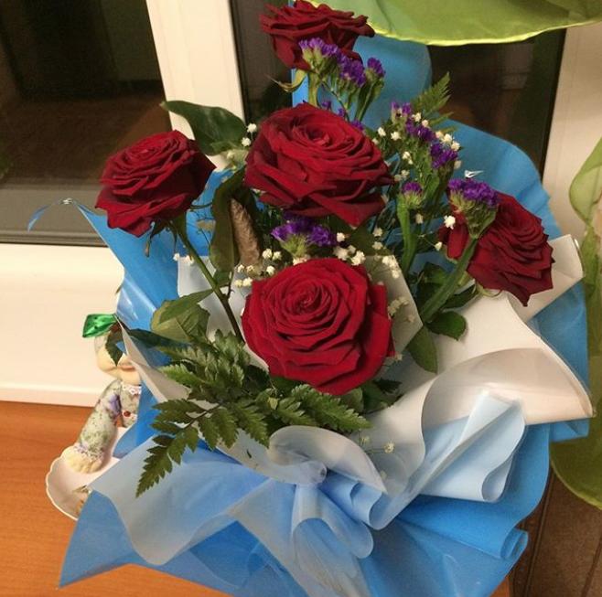 Букет ко Дню святого Валентина. Фото Instagram @olga_ts9