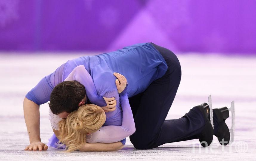 Соревнования спортивных пар на Олимпиаде в Пхенчхане. Алена Савченко и Бруно Массо. Фото Getty