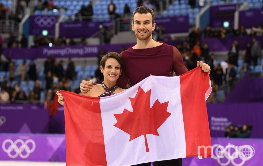 Соревнования спортивных пар на Олимпиаде в Пхенчхане. Канадцы. Фото Getty