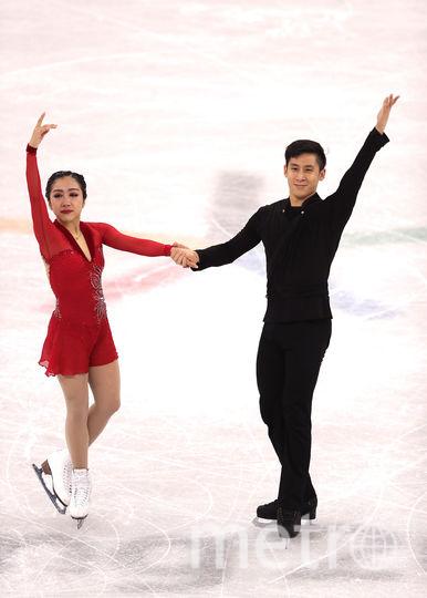Соревнования спортивных пар на Олимпиаде в Пхенчхане. Китайцы на втором месте. Фото Getty