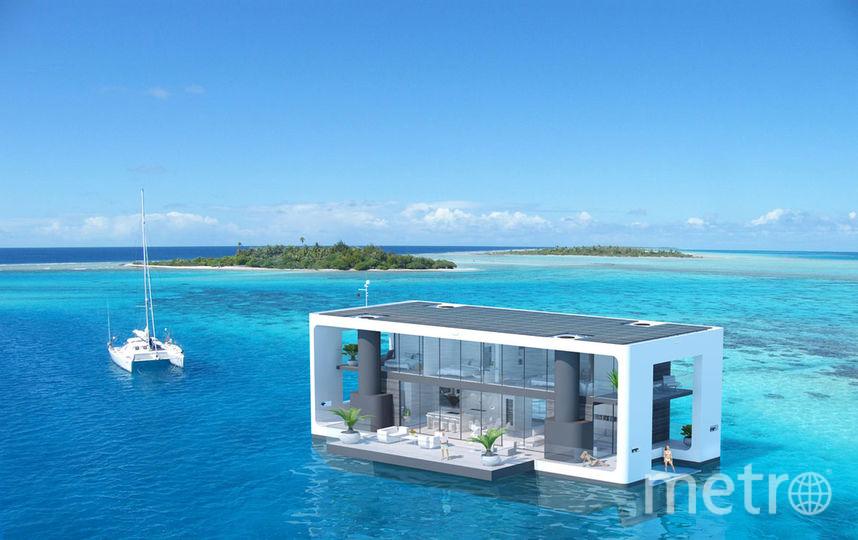 Двухэтажная постройка может плыть, а может цепляться за дно подпорками. Они вытягиваются на глубину 6 метров. Фото Waterstudio