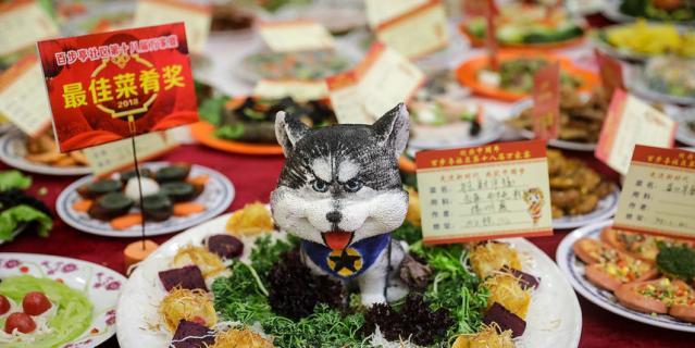 Кулинарный фестиваль в Китае проводится за неделю до праздника.