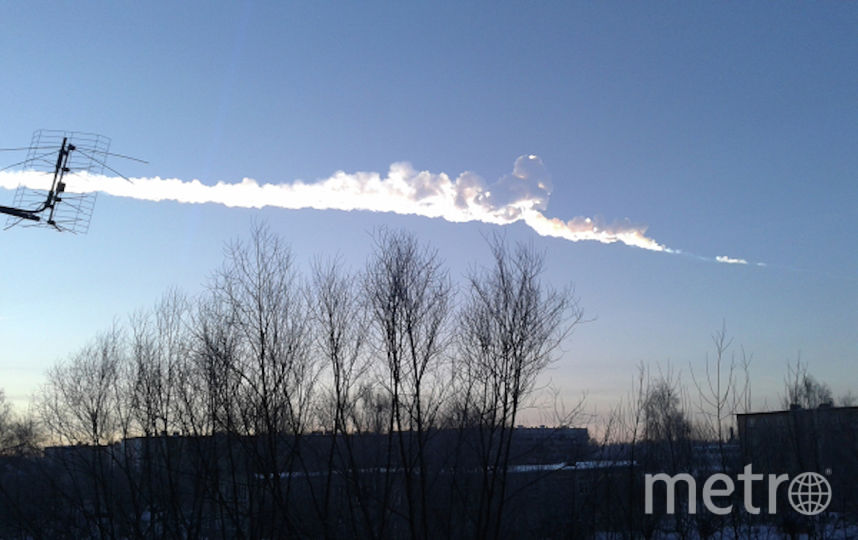 Падение челябинского метеорита. Фото РИА Новости