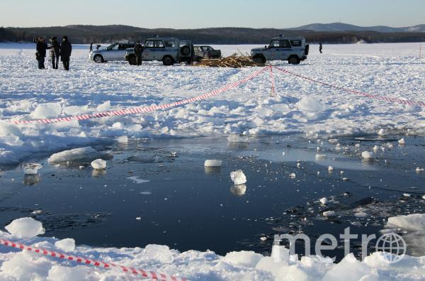 Метеорит упал в озеро Чебаркуль. Фото РИА Новости