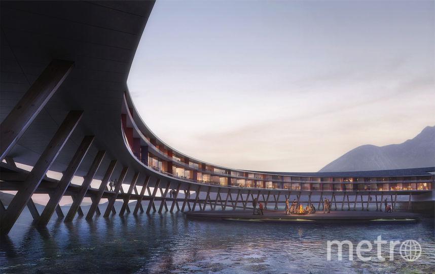 Отель будет выглядеть впечатляюще. Фото snohetta