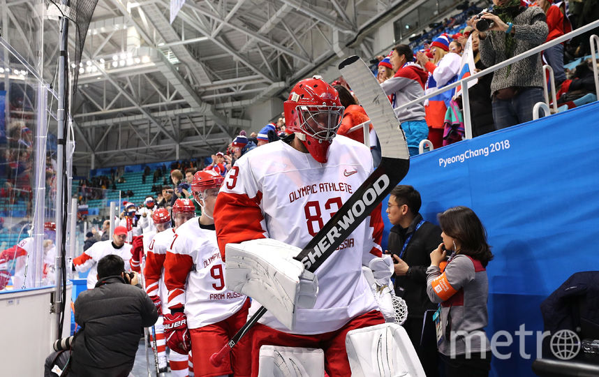 Голкипер сборной России по хоккею Василий Кошечкин. Фото Getty