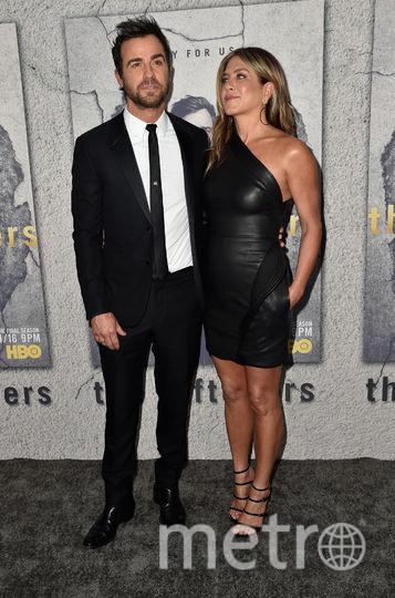 Дженнифер Энистон разводится с мужем Джастином Теру. Фото Getty