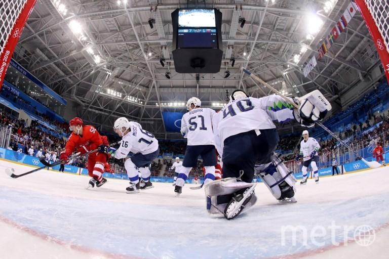 Матч Олимпийские атлеты из России – сборная Словении. Фото AFP