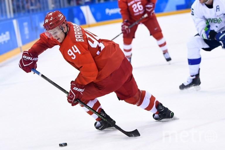 Российский хоккеист Александр Барабанов. Фото AFP