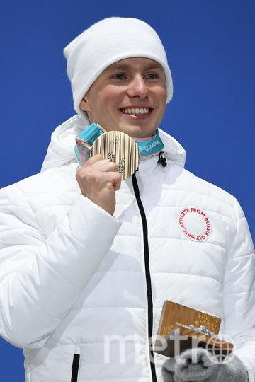 Денис Спицов на награждении в Пхенчхане. Фото AFP