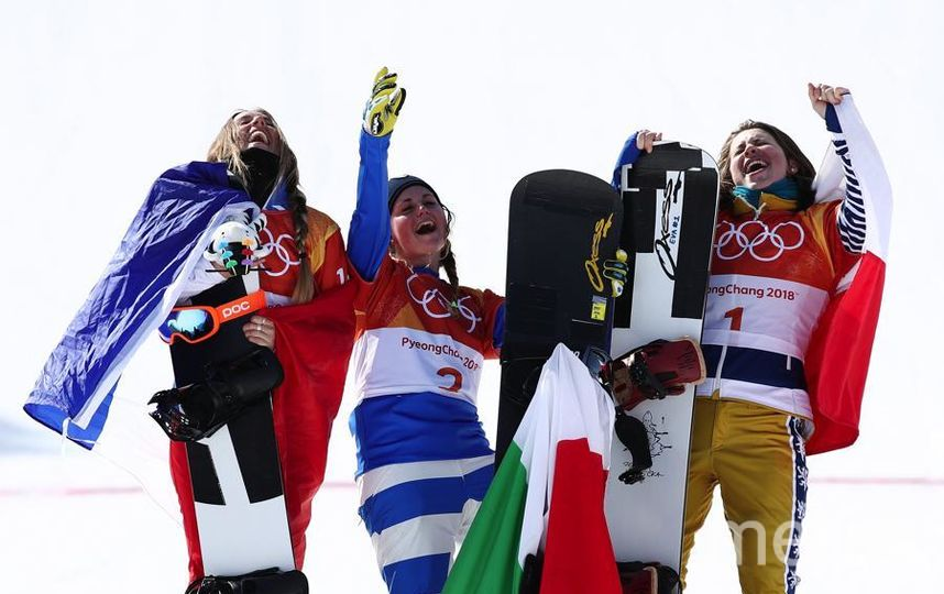 Яркие фото Олимпийских Игр. Сноубордистки - медалистки. Фото Getty