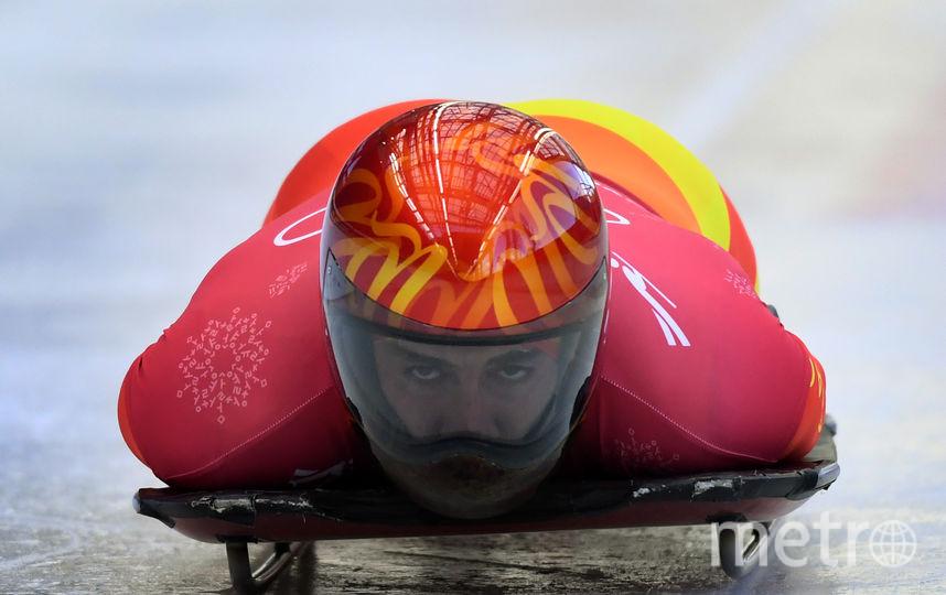 Андер Мирамбель, Испания.Шлем испанца выдержан в национальных цветах. Фото AFP
