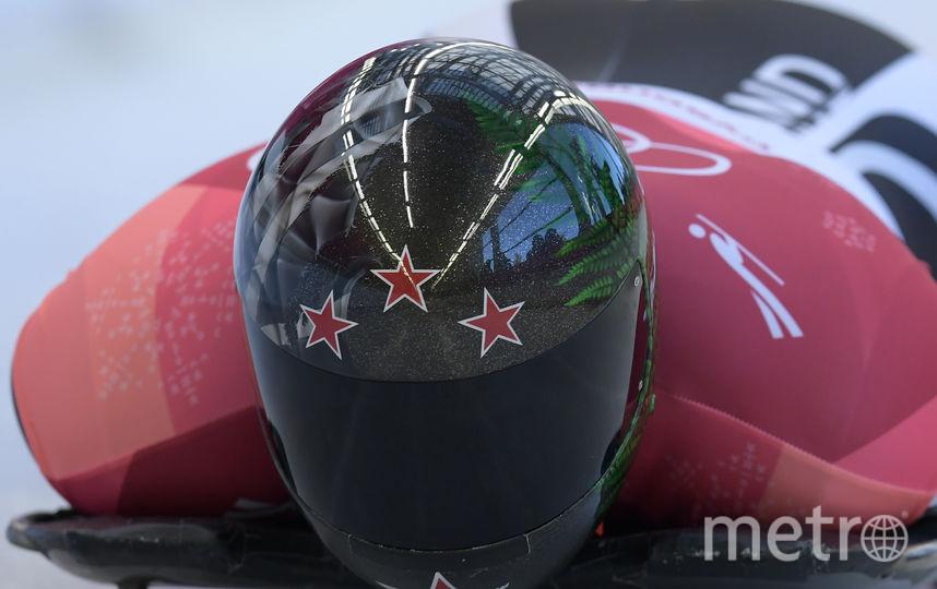 Шлем представителя Новой Зеландии Криса Торнбури. Фото AFP