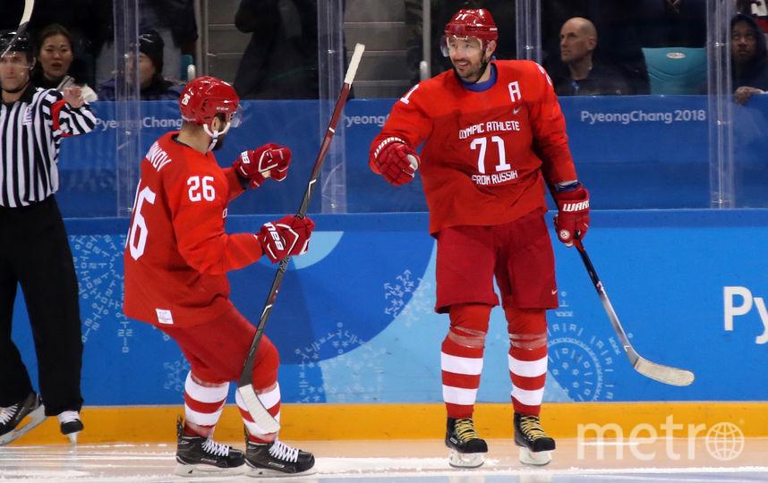 Илья Ковальчук отметился дублем и стал рекордсменом Олимпиад по числу заброшенных шайб. Фото Getty