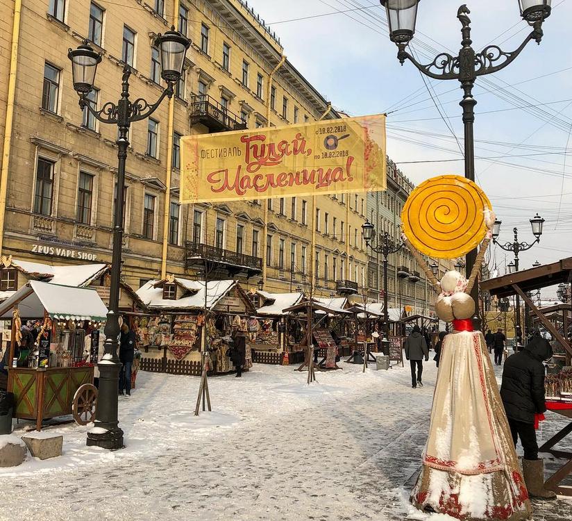 В Петербурге отпраздновали масленицу: горожане делятся фото и видео. Фото Скриншот https://www.instagram.com/real_zhakova/