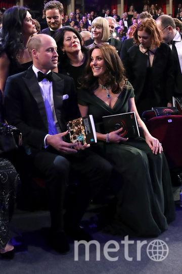 Кейт Миддлтон и принц Уильям на BAFTA-2018. Фото Getty