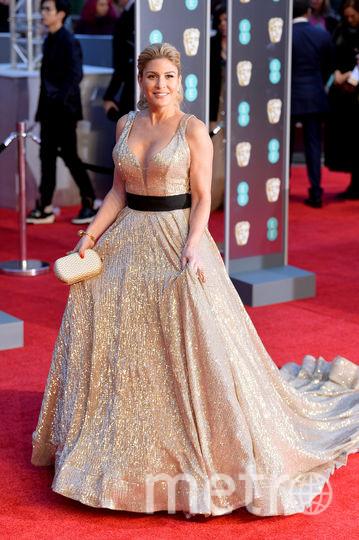 Хофит Голан на BAFTA-2018 выделялась среди звезд в черных нарядах. Фото Getty