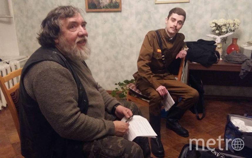 Шагин (слева) просматривает претендента на роль Шарапова. Фото cтраница дмитрия шагина в Facebook.com