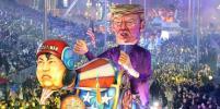 Дональд Трамп с телом гориллы и Ким Чен Ын в каске: в Ницце стартовал ежегодный карнавал