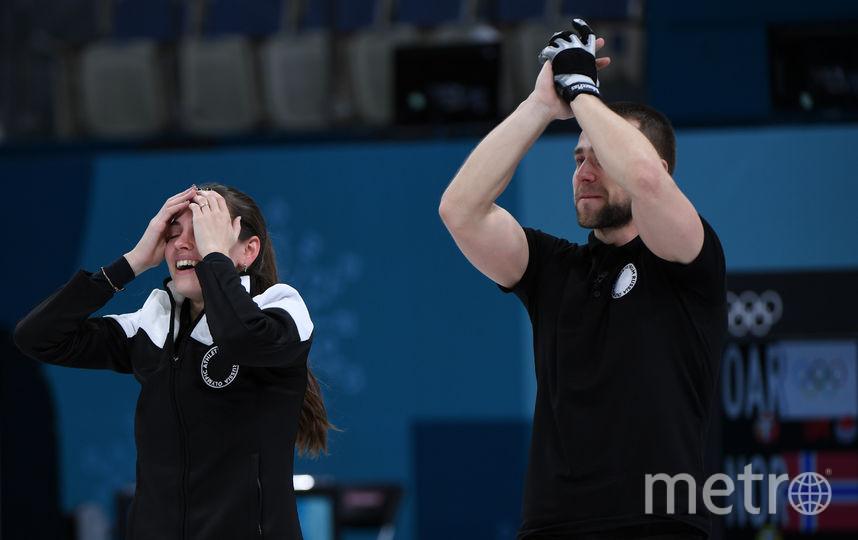Александр Крушельницкий с супругой Анастасией Брызгаловой в Пхенчхане завоевали бронзовую медаль. Фото AFP