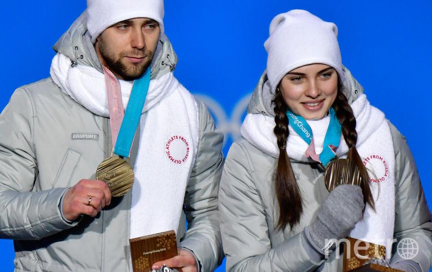 кий с супругой Анастасией Брызгаловой на награждении. Фото AFP