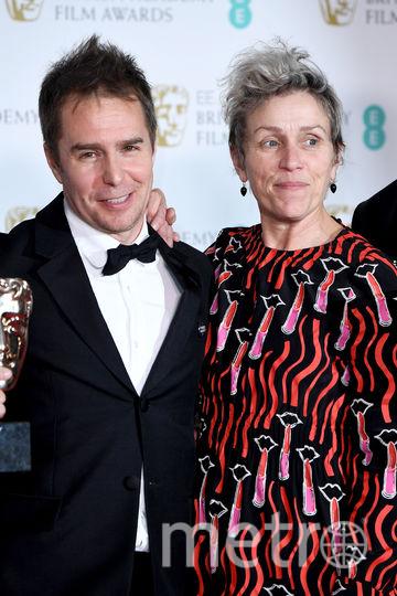 Фрэнсис Макдорманд и Сэм Рокуэлл. Фото Getty