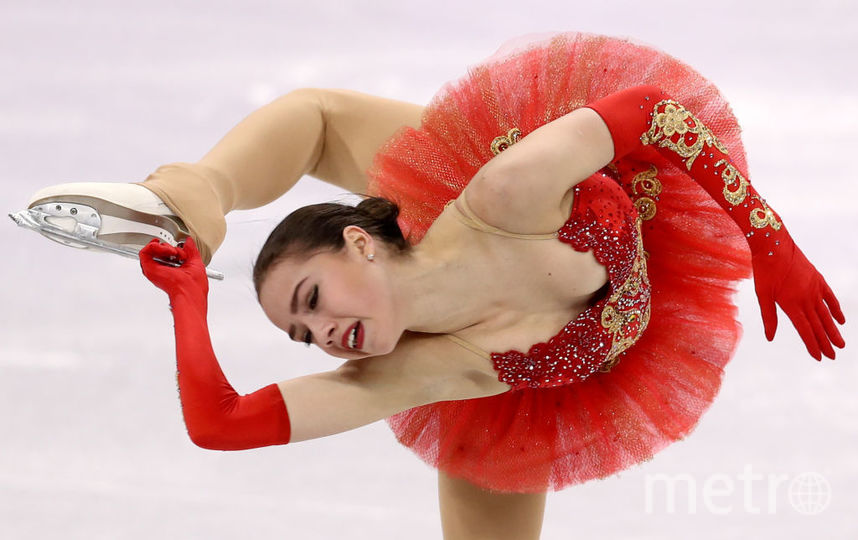 Алина Загитова на Олимпийских играх в Пхенчхане. Фото Getty